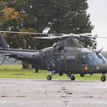 Helivlucht met de Belgische Luchtmacht