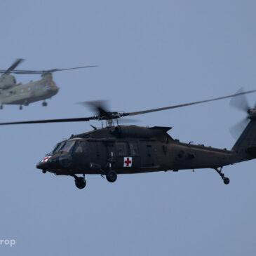 US Army helikopters op Eindhoven