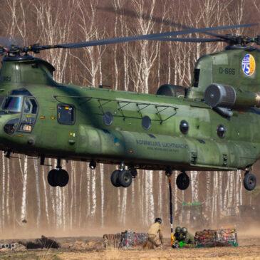 Oefening Luchtmobiele Brigade Weerterheide 24-03-21